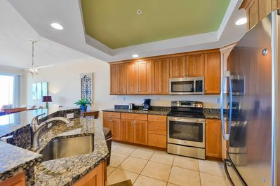Modern Kitchen with New GE Stainless Appliances