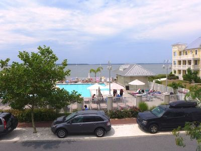 Photo for Newly Refurnished! - Spacious Townhome w/ Views of the Pool & Bay!
