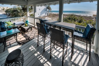 Enjoy hours of gulf views under a protected patio