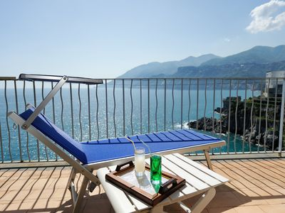 Photo for Very nice house in Maiori with sea views and access to the sea just 5km from Amalfi