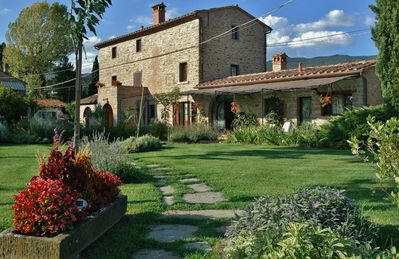 Photo for Own apartment in an ancient Tuscan farmhouse with  shared swimming pool