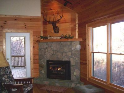 Photo for Laurel View Lodge is a 3 bedroom, 3 bath log home, beautiful view, game room, hot tub.