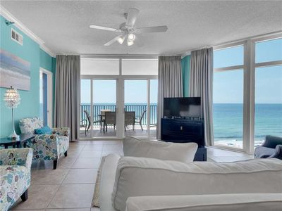 Photo for Gulf Front Balcony, Gorgeous Master Bedroom Views, Chairs and Umbrellas on the Beach Free!