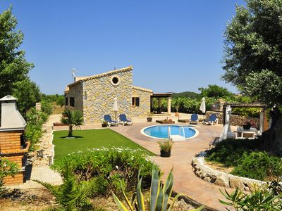 Photo for Mallorcan country house with private pool, covered patio, stone grill, privacy