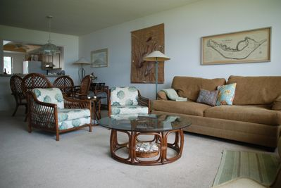 Living room with island rattan furniture