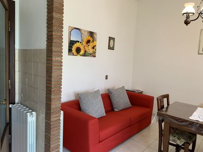 Photo for Apartment close to Cortona with two balconies and panoramic view