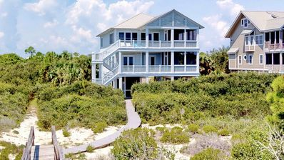 "Photo for Ready Now- No Storm Issues! FREE BEACH GEAR! Beachfront Plantation, Pool, Screen Porch, Elevator, 4BR/4.5BA ""Le Reve"""