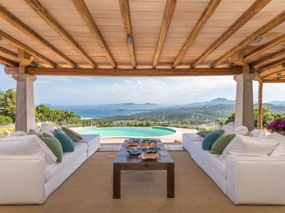 Photo for FANTASTIC VILLA WITH UNIQUE PANORAMA ON CALA DI VOLPE