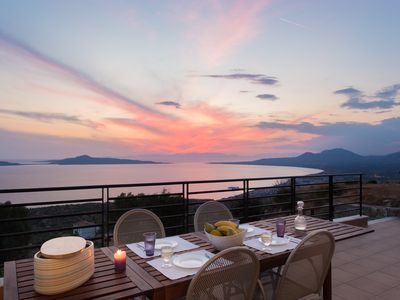 Photo for Unforgettable sunsets over the bay of Neapoli, many beautiful beaches in area