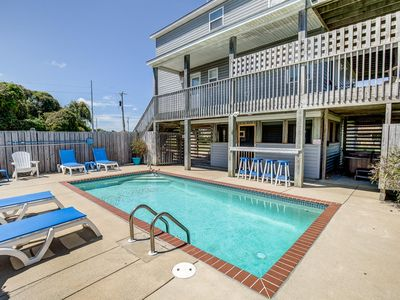 Photo for A Latitude Attitude | 1105 ft from the beach | Dog Friendly, Private Pool, Hot Tub