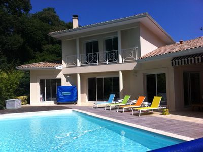 Photo for Beautiful family villa with pool in Pyla sur Mer near Moulleau 10 beds