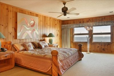 2nd level Master Bedroom with wall to wall ocean view