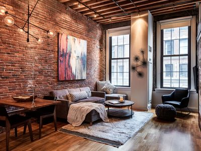 Photo for NEW! Historical 1BR Modern, 5-Star Loft in the Heart of Boston's Waterfront