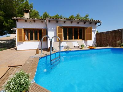 Photo for Holiday home close to the beach - central, terrace, set-up pool, BBQ, Wifi, TV