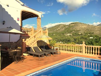 Photo for SPACIOUS AND SUNNY VILLA WITH VIEWS TO THE MÓNTAÑA. PRIVATE POOL. WIFI.