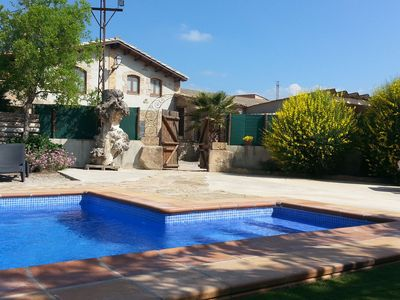 Photo for Magnificent restored stone house for 10 people with private pool in Solsona