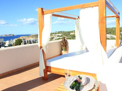 Photo for Villa Sea-Sunset view with pool in Cala Tarida.