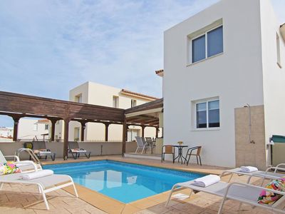Photo for This 3-bedroom villa for up to 6 guests is located in Pernera and has a private swimming pool, air-c