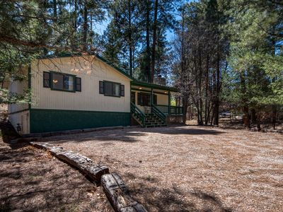 Photo for EASY ACCESS TO THIS 3/2 CABIN WITH HOT TUB CLOSE TO TOWN