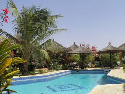 Photo for African hut comfort on estate with pool