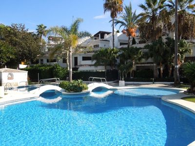 Photo for Summer Holiday Apartment - 5 minutes walk to the beach, bars and supermarkets