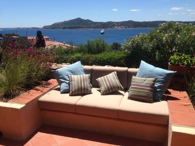 Photo for Apartment sea view-terrace in a residential complex near Porto Cervo