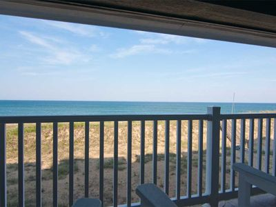Photo for First Flight Retreat 215: Beachy and Breathable Condo, Oceanfront + Access to Saltwater Pool