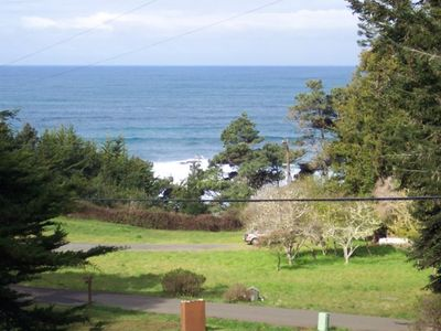 This is the view from The Cottage to one of the best abalone diving spots around