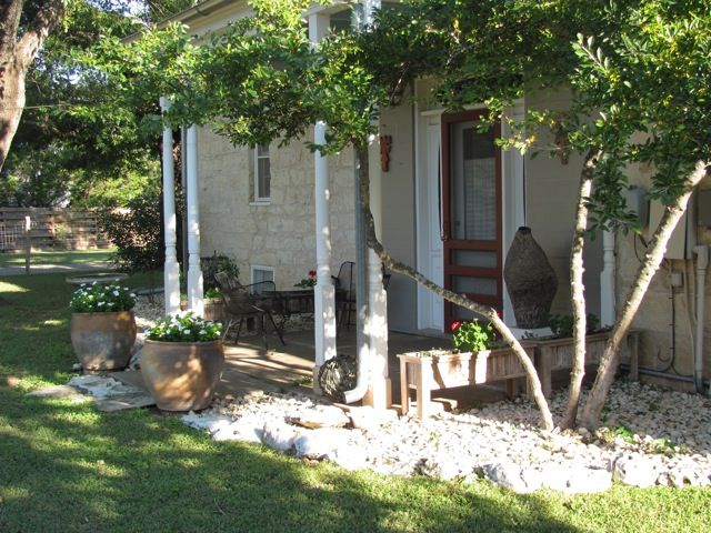 An art filled, 120 year old limestone house, 4 blocks from Main St.