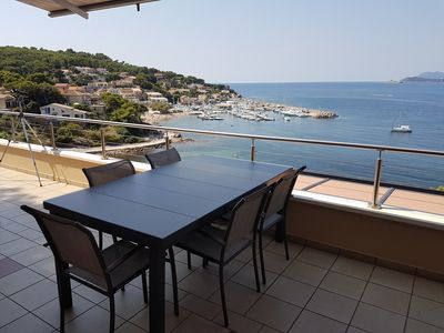 Photo for Apartment in villa directly at the seaside - Magnificent view