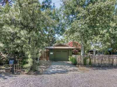 Photo for Quiet Bungalow in Perfect Location. Walk to Old Mill, River and Trails. Firepit, WiFi, Privacy