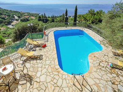 Photo for Secluded villa with amazing sea-views, a pool and Wi-Fi located near quaint village