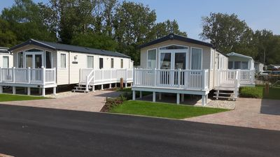 Photo for Prestige 'With Decking' Mobile Home On A 5* Haven Holiday Park in Poole
