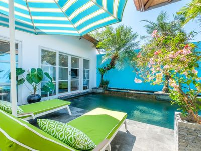 Photo for THE CABANA  2 BR.BEACHSIDE POOL VILLA