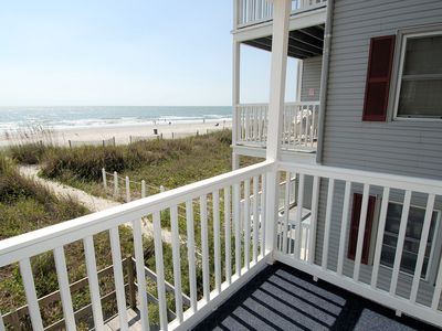 Photo for 2 bedroom direct oceanfront pet friendly condo, WIFI, outdoor swimming pool