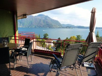 Photo for Attractive 3½-room apartment with 2 balconies, pool and dream view