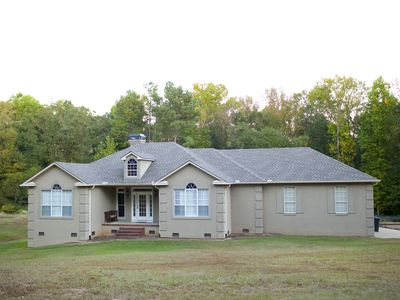 Photo for Beautiful Masters Rental Overlooking 2 Wooded Acres, Less Than 9 Mi to Course.