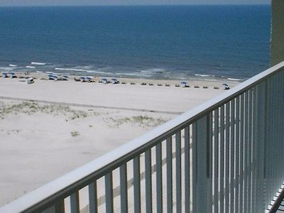 View of the Gulf of Mexico from the Balcony of the 2 Bedroom Condo