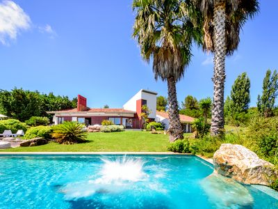 Photo for ARCHITECTS VILLA TARA WITH VIEWS OF SINTRA MOUNTAINS, TENNIS, POOL, FOOTBALL SPACE
