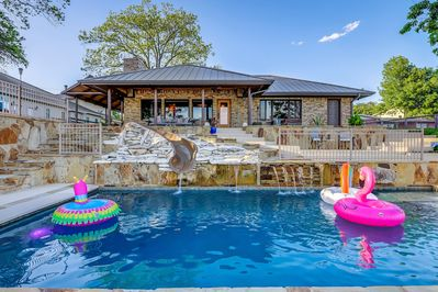 Amazing Waterfront Home With 2 Large Pools Fun Water Slide For Kidore Kingsland