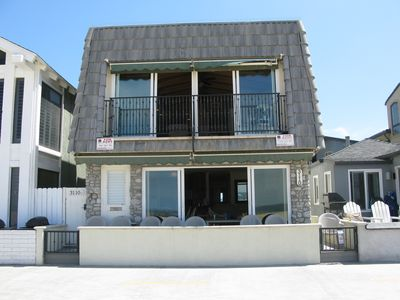 Photo for Newport Beach- Lower Unit- OCEANFRONT  Boardwalk- 3 bedrooms -Best Location