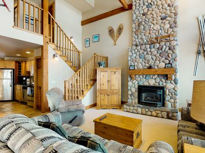 Photo for Ski-in/ski-out chalet w/ mountain views, private hot tub, & gas fireplace