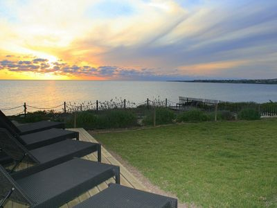 Photo for Poseidon beach villa, waterfront, private, tranquil, romantic sunsets