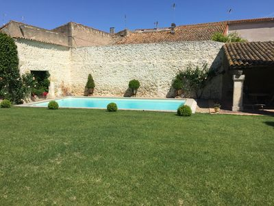 Photo for Charming house renovated with pool in the heart of the village for 4 people
