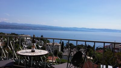 Photo for Villa Allegra in Lovran, Classic Apartment 107, Private balcony- Sea view
