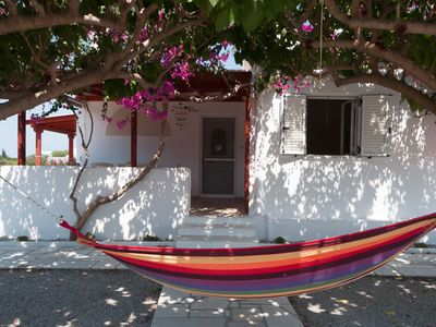Photo for Felicia s sun-side house, Cycladic house by the beach, true owner hospitality