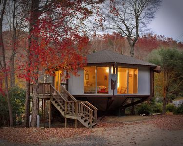 Photo for Tree House Cottage - Stay in a Tree House!  Closest House to Roaring Fork Falls