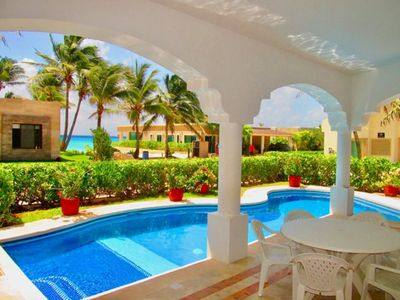 Photo for 4 BDR Ocean view house, private pool/BBQ for 10! Playacar Phase 1
