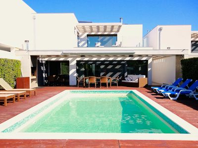 Photo for Very sunny spacious new villa with private pool and 5 large bedrooms