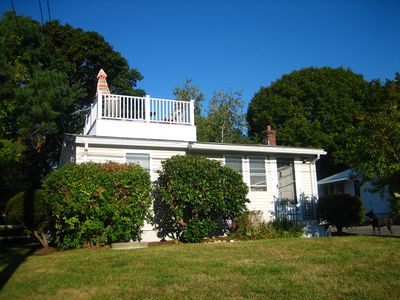 Photo for The C Shack: Pet-Friendly Cottage w Roof Deck and Water Views!